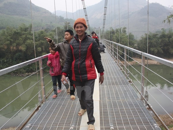 Completing the Phieng Vang suspension bridge, the time of the